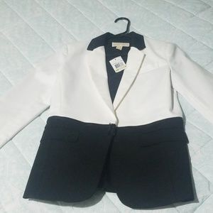 NWT Michael Kors Black and White Blazer